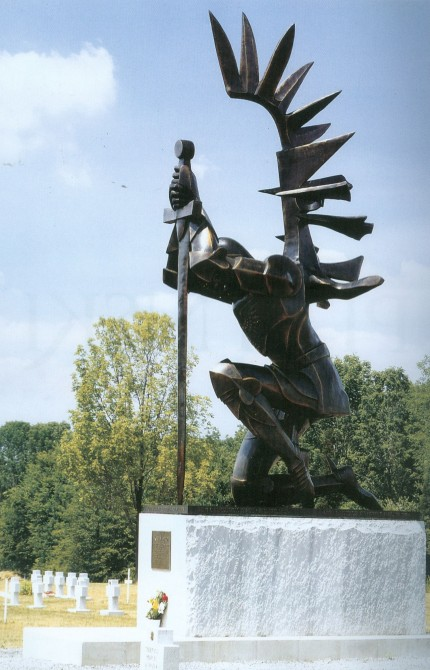 "Andrew Pitynski's ""Avenger"", Bronze and Granite, 1988, Doylestown, Pennslyvania"
