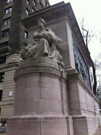 The Firefighters Memorial at W. 100th St. and Riverside Drive, New York